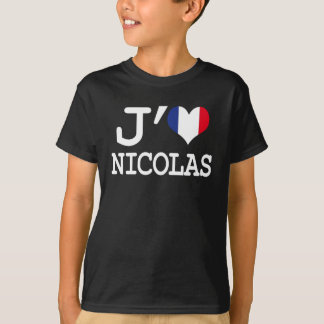 T-shirt J'aime Nicolas