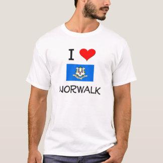 T-shirt J'aime Norwalk le Connecticut