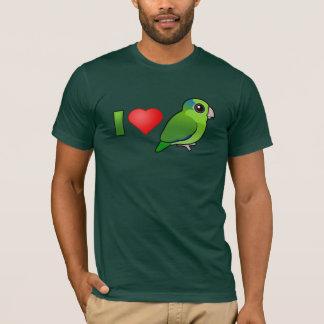 T-shirt J'aime Parrotlets Pacifique (le vert)