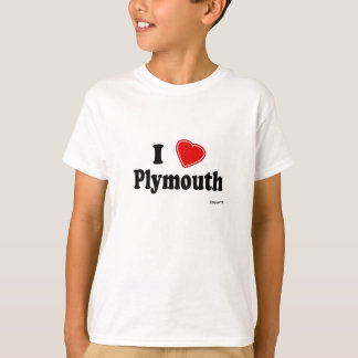 T-shirt J'aime Plymouth