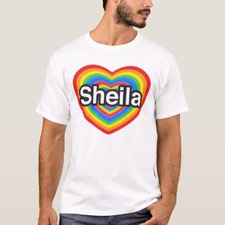 T-shirt J'aime Sheila. Je t'aime Sheila. Coeur