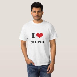 T-shirt J'aime stupide