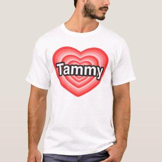 T-shirt J'aime Tammy. Je t'aime Tammy. Coeur