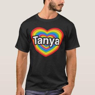T-shirt J'aime Tanya. Je t'aime Tanya. Coeur