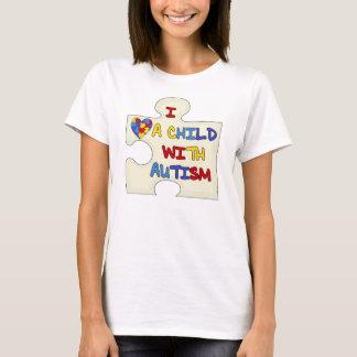 T-shirt J'aime un enfant avec l'autisme