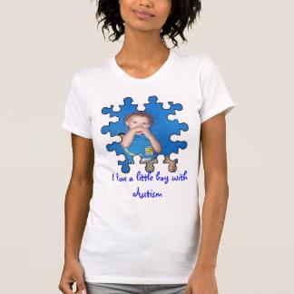T-shirt J'aime un petit garçon avec l'autisme