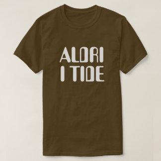 T-shirt jamais à l'heure dans le brun norvégien