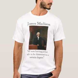 T-shirt James Madison sur la puissance