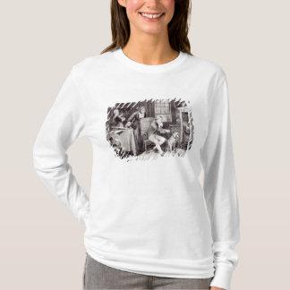 T-shirt James Watt jouant avec la vapeur