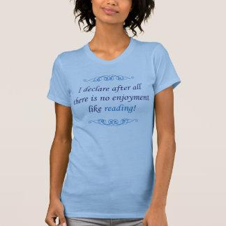 T-shirt Jane Austen - Pride and Prejudice - Reading (blue)