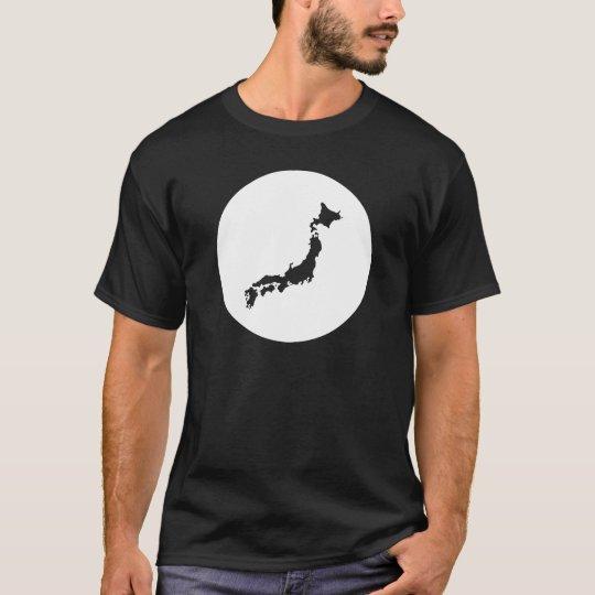 """T-shirt Japon """"carte"""" Noir"""