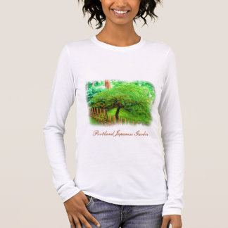 T-shirt japonais d'aquarelle de jardin de Portland