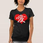 T-shirt japonais de coeur