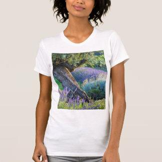 T-shirt Jardin pittoresque avec des fleurs, France