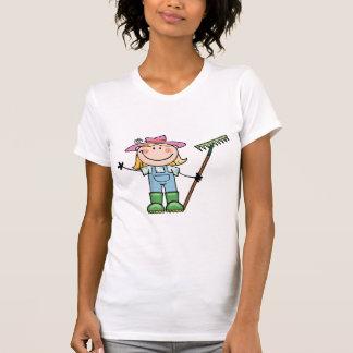 T-shirt Jardinier blond léger avec le casquette rose