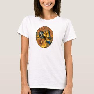 T-shirt jaune de fée de fleur