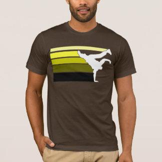 T-shirt Jaune de gradient de BBOY blanc
