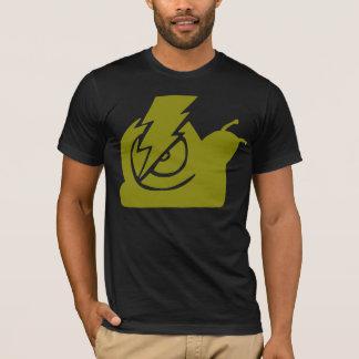 T-shirt Jaune de logo d'escargots de foudre