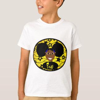T-shirt Jaune de sourire de Fino ouvrier !