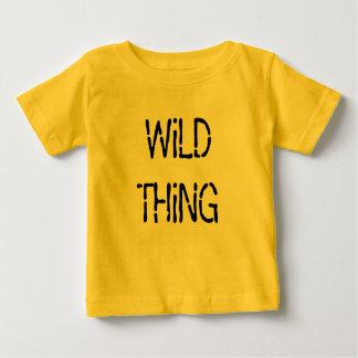 T-shirt jaune du Jersey d'amende d'enfant en bas
