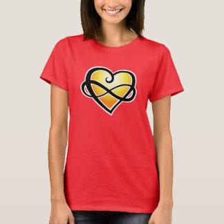T-shirt Jaune infini d'amour