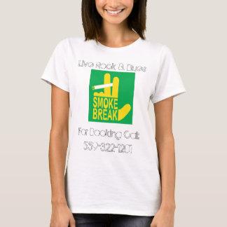 T-shirt Jaune mûr de coupure de fumée