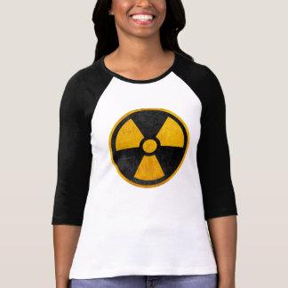 T-shirt Jaune radioactif et noir de réacteur nucléaire