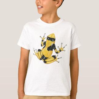 T-shirt Jaune-réuni de grenouille de dard de