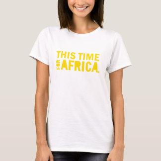T-shirt Jaunissez cette fois pour la chemise de l'Afrique