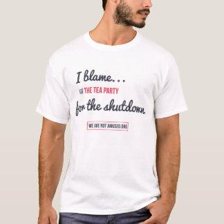T-shirt Je blâme le thé de l'arrêt