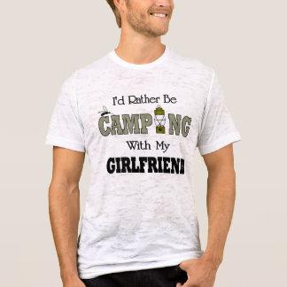 T-shirt Je camperais plutôt avec mon amie