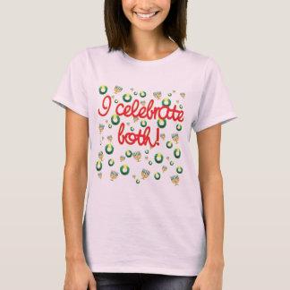 T-shirt Je célèbre Noël et Hanoukka