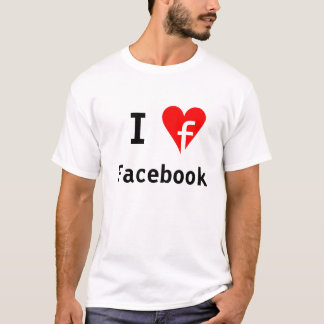 """T-shirt """"Je chemise de Facebook de ♥"""""""