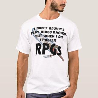 """T-shirt """"Je chemise préfère RPG"""""""