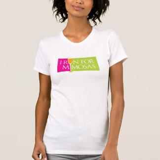 T-shirt Je cours pour des mimosas