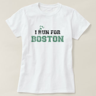 T-shirt JE COURS POUR la chemise de BOSTON (affligée)