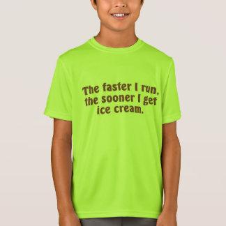 T-Shirt Je cours pour la crème glacée
