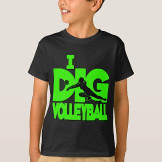 T-shirt Je creuse VB, vert de néon