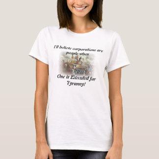 T-shirt Je croire que les sociétés sont les gens…