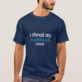 T-shirt je déchiquette le mon, brosse à dents, support
