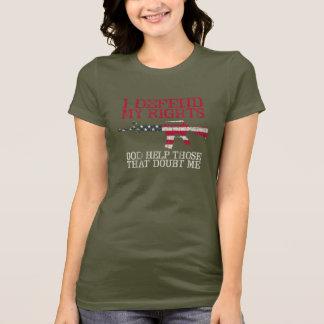 T-shirt Je défends mes droites