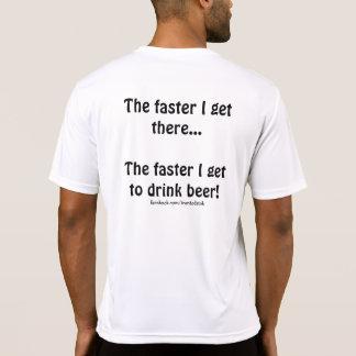 """T-shirt Je des hommes """"plus rapidement obtiens de boire"""""""