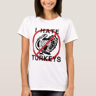 T-shirt Je déteste des dindes