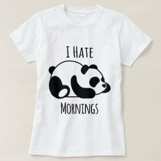 T-shirt Je déteste des matins