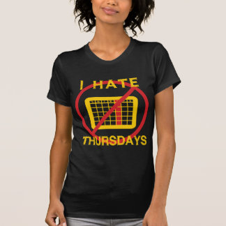 T-shirt Je déteste jeudi