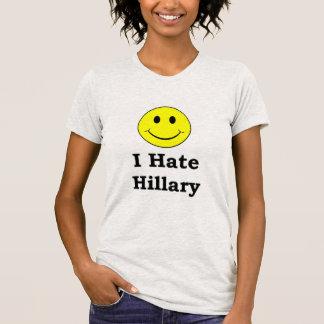 T-shirt Je déteste le visage souriant heureux de Hillary