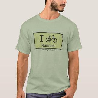 T-shirt Je fais du vélo le Kansas