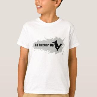 T-shirt Je ferais du surf des neiges plutôt