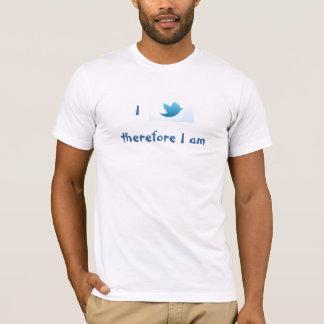 T-shirt Je gazouille donc je suis