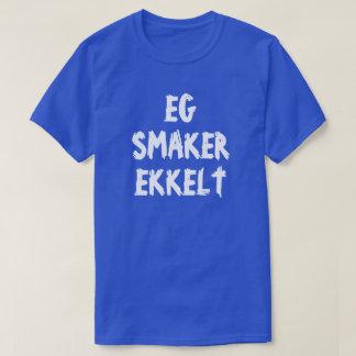 T-shirt Je goûte répugnant dans le bleu norvégien